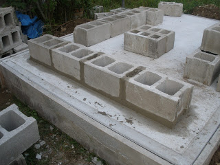 Wood-Fired Oven ~ Cement Block Base
