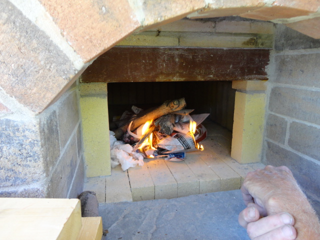Wood-Fired Oven ~ We Have Fire!