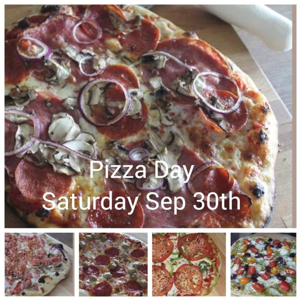 Pizza Day ~ Saturday September 30th