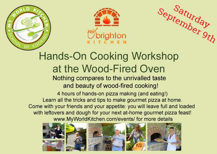 pizza making workshop wood fired oven myworldkitchen com