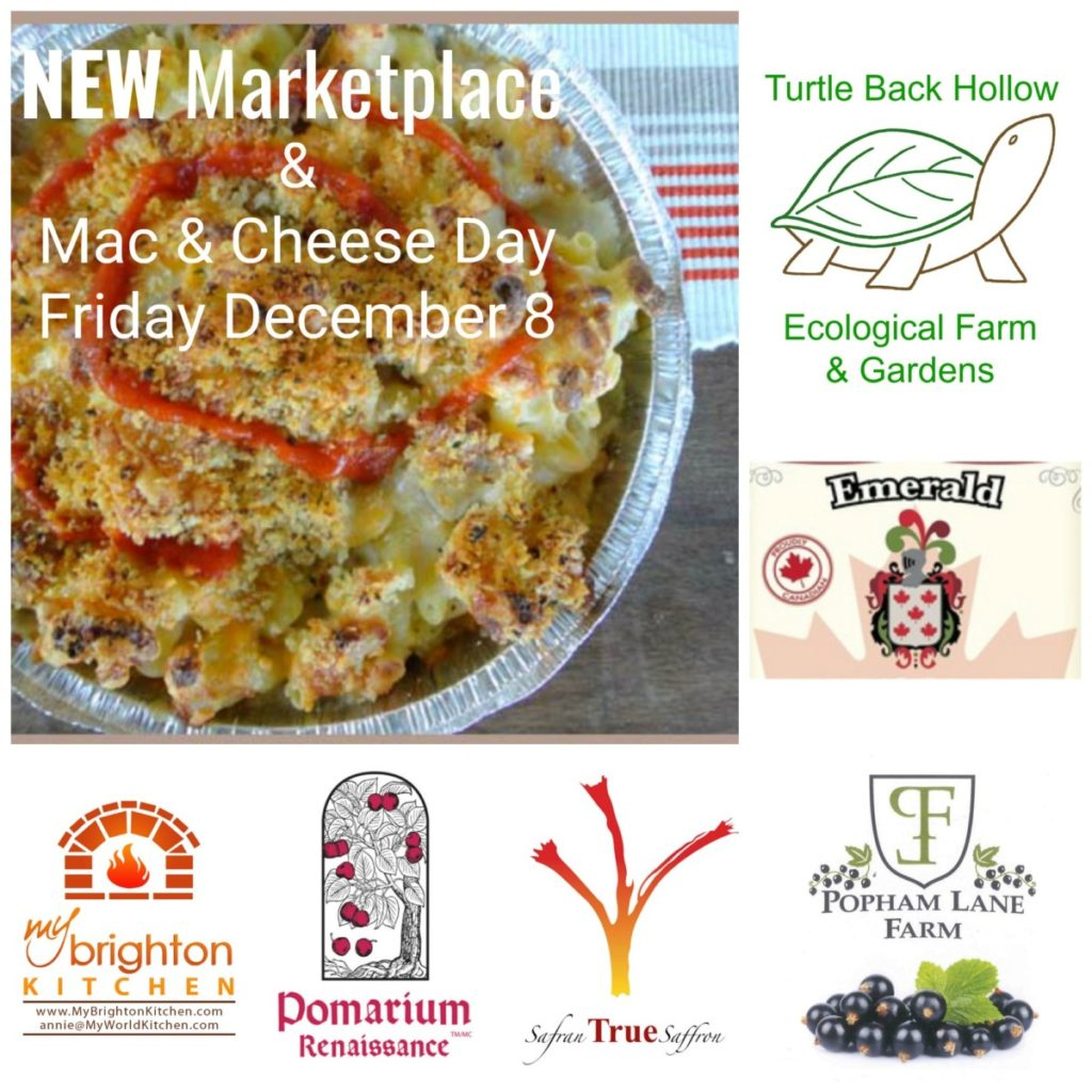 NEW Marketplace and Scrumptious Mac & Cheese this Friday December 8th